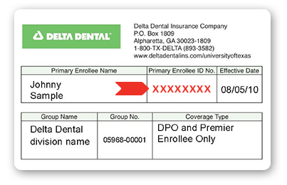 Universal image in delta dental printable cards